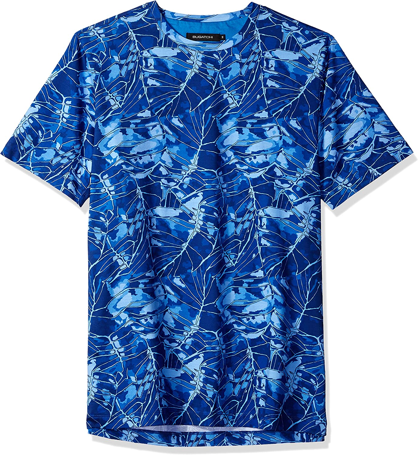 Bugatchi Mens Cotton Jersey Classic Blue All Over Print T-Shirt