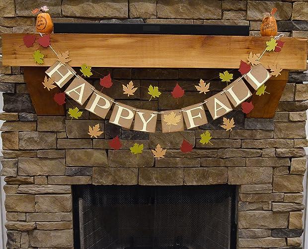 amazon com happy fall banner happy fall sign fall decor happy