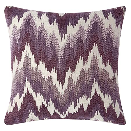 Pillow Pops Viola Pillow Lavender Set, Purple Linen Look Home Accent D cor Throw Bolster, Luxury Designer Upholstery Cushion 18x18x4 Inch Made in USA