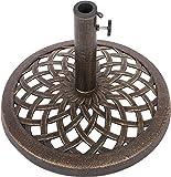Trademark Innovations Cast Iron Umbrella Base - 17.7 Inch Diameter by Trademark Innovations (Bronze)