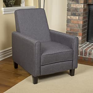 Christopher Knight Home 296112 The Lucas Recliner, Smoky