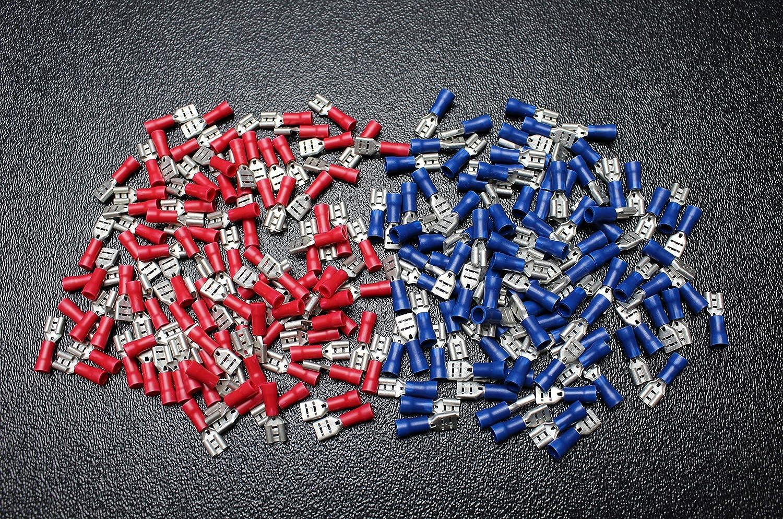 50 PK 14-16 18-22 Gauge Vinyl Quick Disconnect .205 Female 25 PCS EA TERMINALS