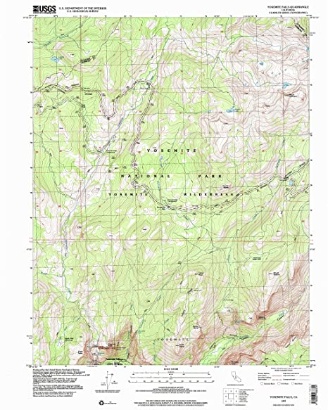 Amazon Com Yellowmaps Yosemite Falls Ca Topo Map 1 24000 Scale