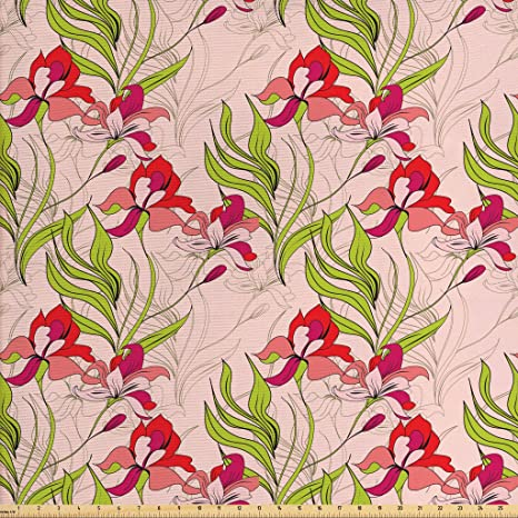Amazon Com Lunarable Vintage Modern Fabric By The Yard Classical