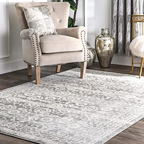 nuLOOM Istanblue Persian Area Rug, 5 x 7 5 , Silver
