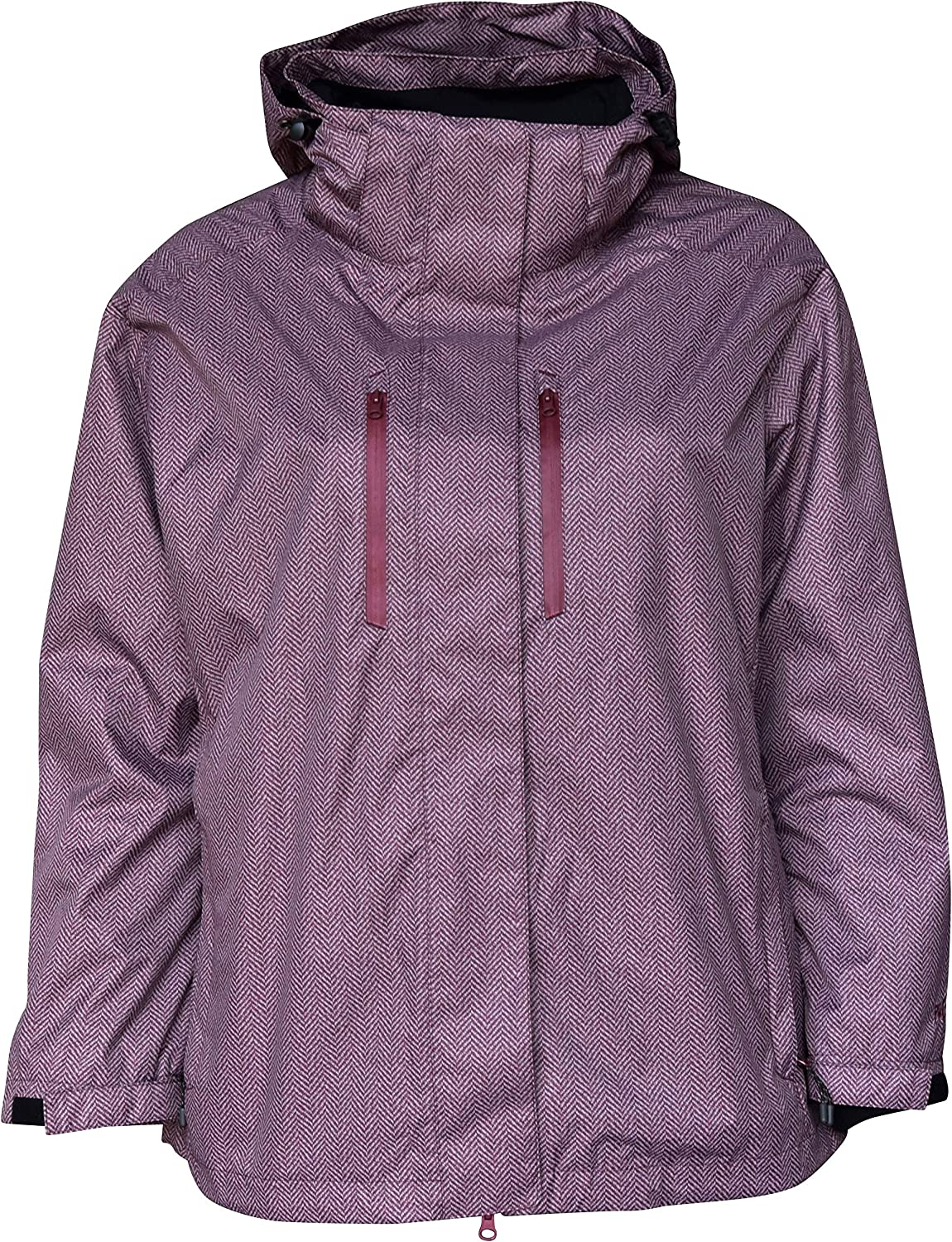 PULSE Womens Plus Extended Size 3in1 Boundary Snow Ski Jacket Coat