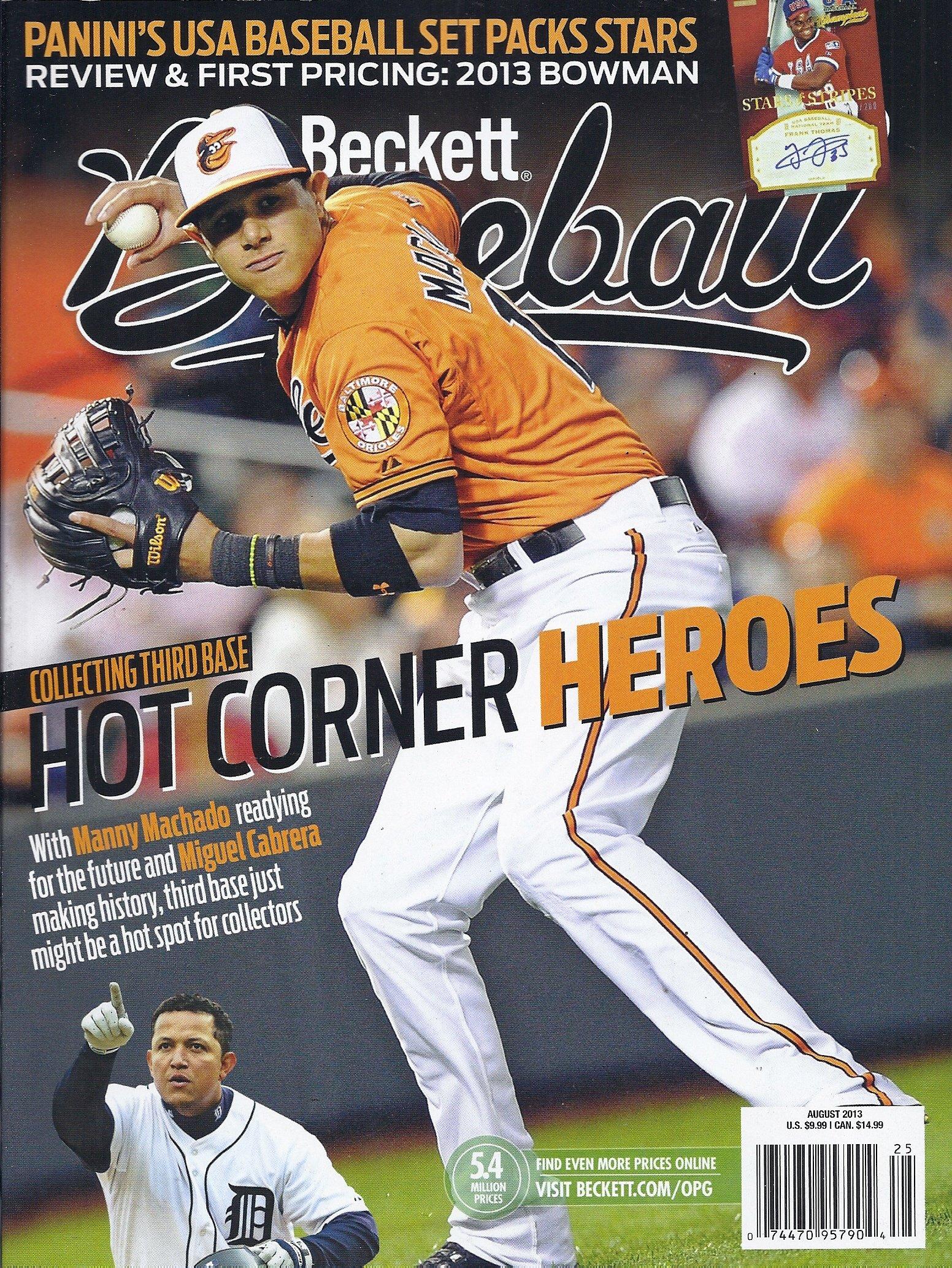 Beckett Baseball Magazine August 2013 Manny Machado