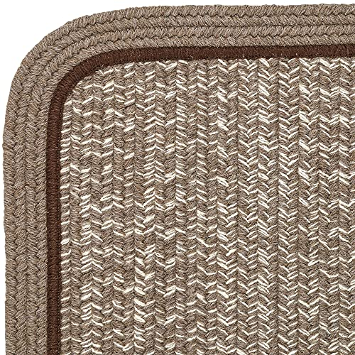 Super Area Rugs Woolmade Braided Rug 100 Wool Rug Soft Texture Rectangle Decor Carpet, 4 Square