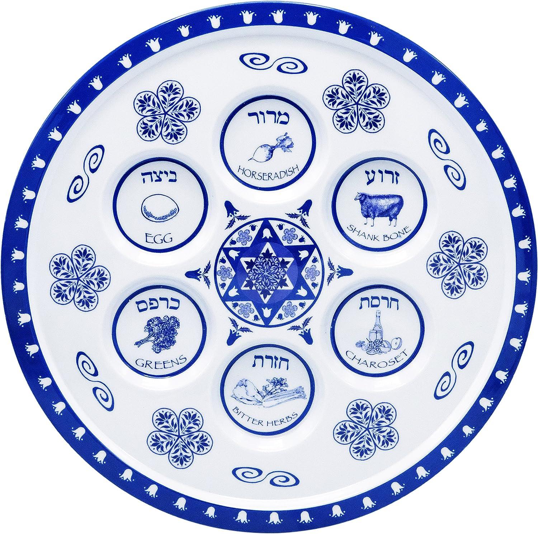 The Dreidel Company Seder Plate Passover Plate Melamine Renaissance Design Passover Seder Plates