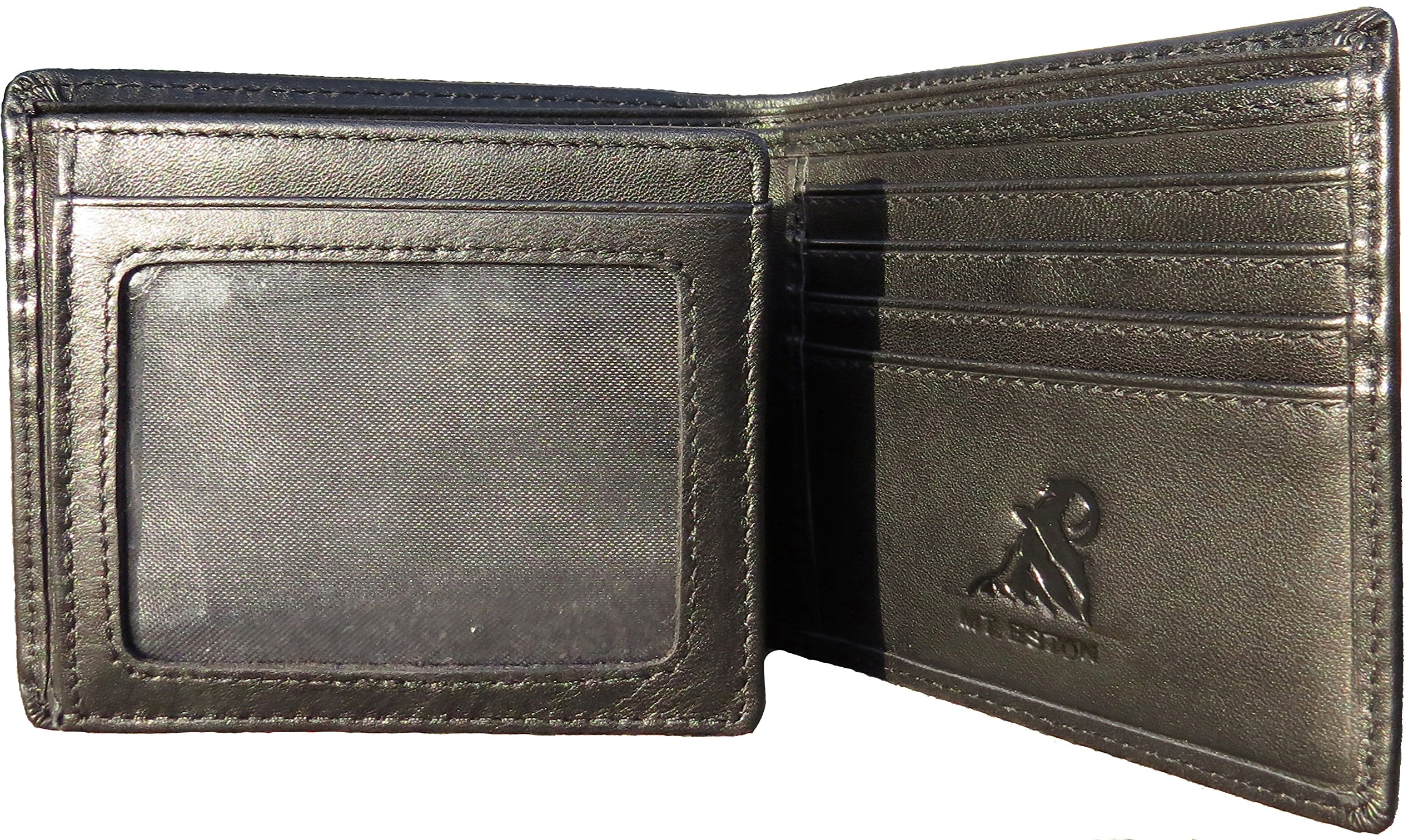Mt. Eston RFID Blocking Trifold Bifold Mens Leather Wallet, 18 Pocket Extra Capacity, High-End Build, Gift Box for Men (Previously Mt. Everest) by Mt. Everest (Image #3)