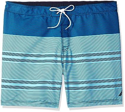 6a0c29e5af Nautica Men's Big Quick Dry Half Elastic Waist Colorblock Swim Trunk, Bali  Bliss, 2XLT