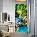 murimage Papel Pintado Puerta Cascada 86 x 200 cm Río de la Selva Bosque Tailandia Asia Foto Mural Incluyendo Pegamento livingdecoration
