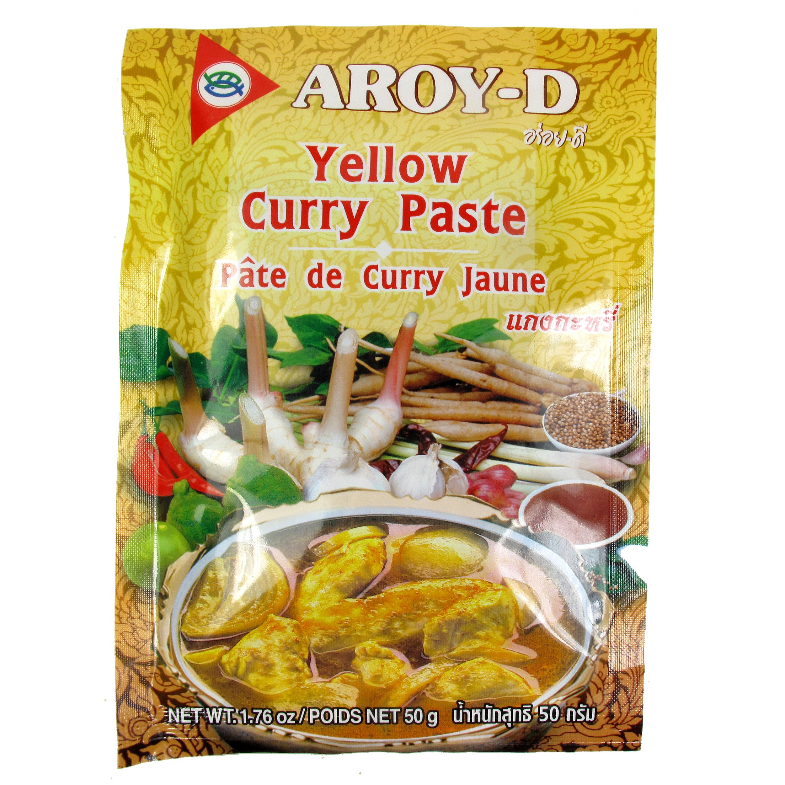 Aroy-D Curry / Yellow Curry Paste, 50-Gram