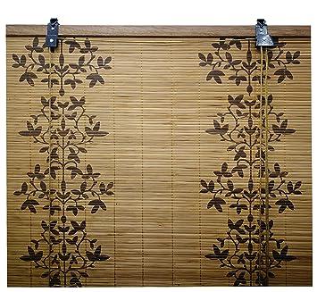 Jalousie Holz Jalousie Fenster Jalousie Fenster Jalousie Bambus Breite X Lange 150 X 135 Cm Blume