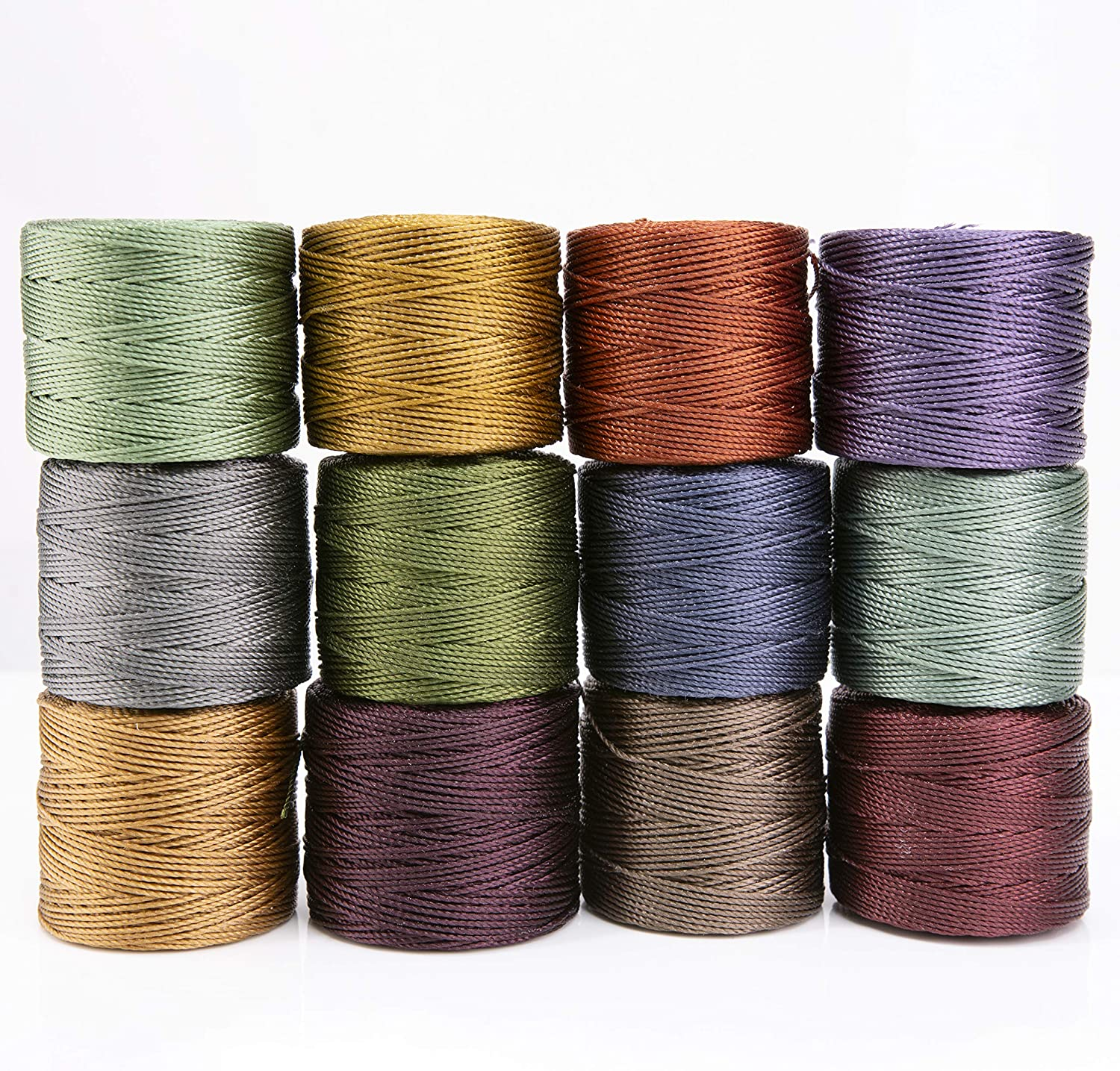 Beadsmith S-Lon Cord Multipack with 12 Spools (Forest Mix)