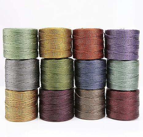 SLD-MIX1 S-Lon Beading Thread 12 Bobbins,12 Colors Size D