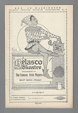 Sara Allgood ABBEY THEATRE IRISH PLAYERS George Bernard Shaw 1911 Washington DC Playbill