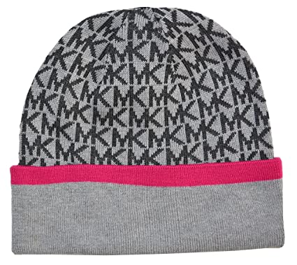 Image Unavailable. Image not available for. Color  Michael Kors Signature  Logo Knit Beanie Hat ... 4503803fdbf