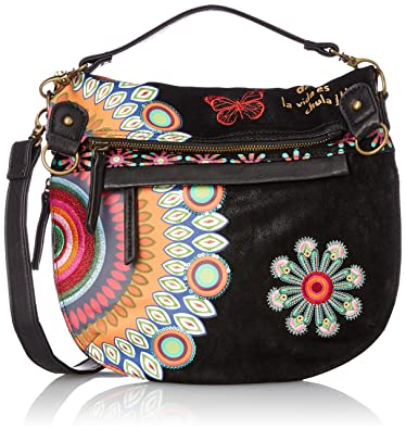 Bols_sesa Womens Cross-Body Bag Black (Negro) 25x23x98 cm (B x H x T) Desigual