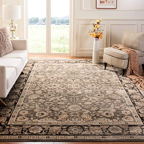 Safavieh Vintage Collection VTG576D Transitional Oriental Taupe and Black Distressed Area Rug 9 x 12