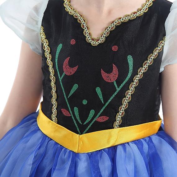 Amazon.com: Dressy Daisy Niñas Princesa Anna Dress Up ...