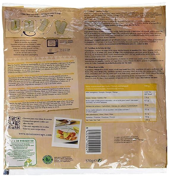 Mission Wraps Espelta Y Avena - 6 Paquetes de 370 gr - Total: 2220 gr: Amazon.es: Alimentación y bebidas