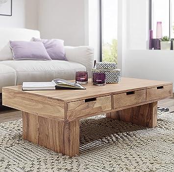 FineBuy Couchtisch Massivholz Design Wohnzimmer-Tisch 110 x 60 cm 3 ...
