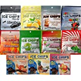 New! ICE CHIPS CANDY Resealable Pouch Assortment - Contains 11 Flavors!