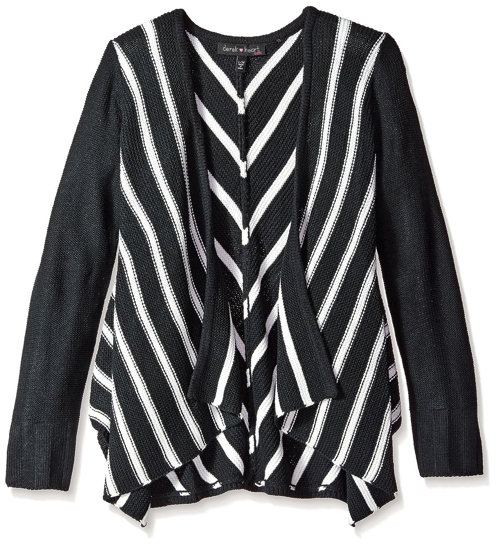 Derek Heart Big Girls Mitered Stripe L//Slv Cozy Sweater