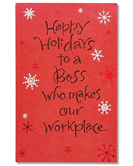 american greetings happy holidays card for boss with glitter - Happy Holidays Card