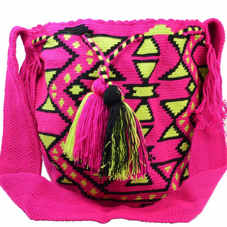 Wayuu Mochila Bags レディース カラー: ピンク B06X6L3RTS