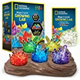 NATIONAL GEOGRAPHIC Mega Crystal Growing Lab – Grow 6 Vibrant Crystals, Crystals Grow Fast in 3-4 Days, Includes Light…