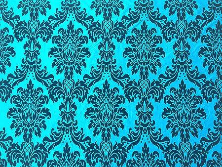 Taupe PRESTIGE FABRICS Taffeta fabric Victorian Damask Black velvet flock curtains cushions wedding decor table runners dress Fabric PER METRE