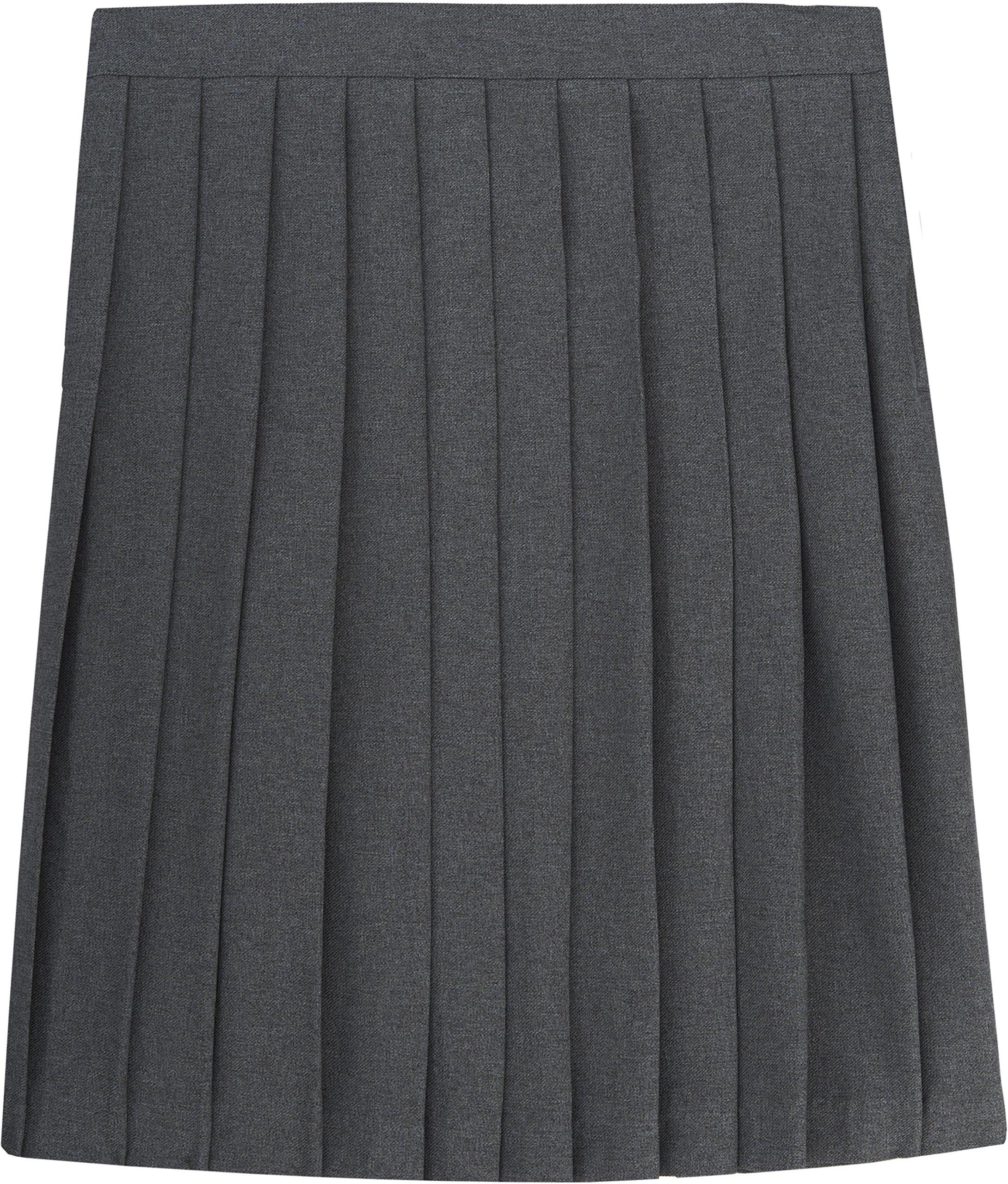 French Toast School Uniform Girls Pleated Skirt, Gray, 12