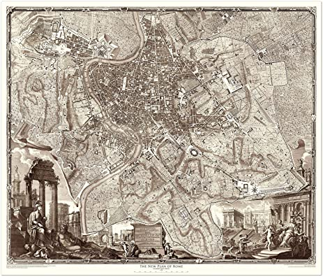 Amazoncom 1748 Nolli Map of Rome 45 x 526 Archival Paper