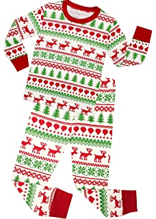 4df8bc21c Amazon.com  Elowel Boys Girls Christmas Tree 2 pc Kids Pajamas Set ...