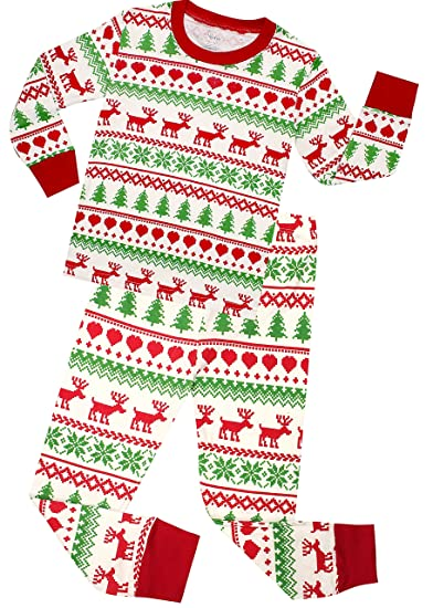 shelry Christmas Girls Boys Pajamas Gift Cotton Kids Pjs Toddler Sleepwear Pants Set Size 9 Years