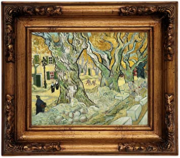 van Gogh The Bedroom Wood Framed Canvas Print Repro 8x10