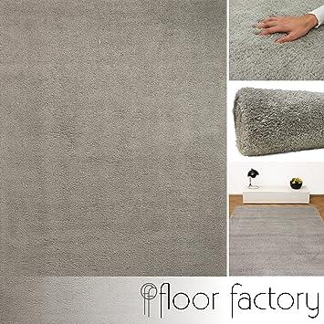 Flauschiger teppich  Weicher Hochflor Shaggy Teppich Privilege grau 200x290 cm ...