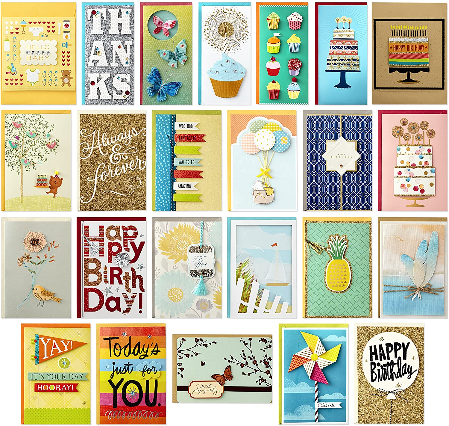 Thank you cards inspirational Cards Set of 15