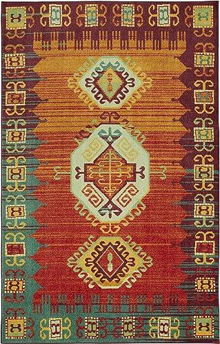Mohawk Home Prismatic Teton Multicolored Southwest Aztec Precision Printed Area Rug, 8 x10 ,