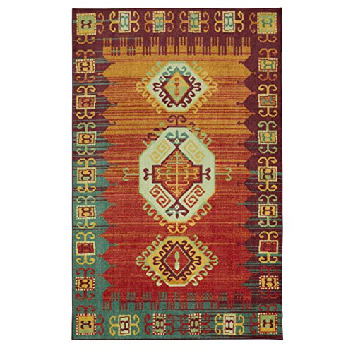 Mohawk Home Prismatic Teton Multicolored Southwest Aztec Precision Printed Area Rug, 5 x8 ,