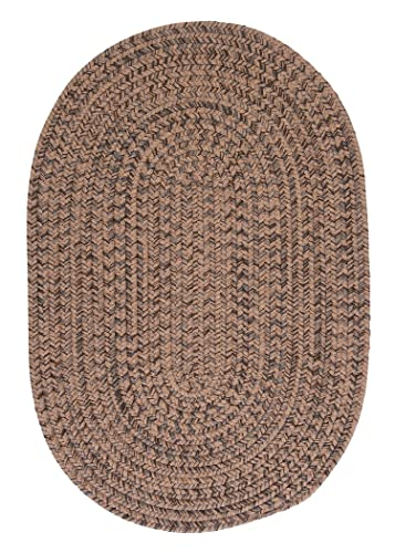 Hayward Oval Area Rug, 4 by 6-Feet, Mocha