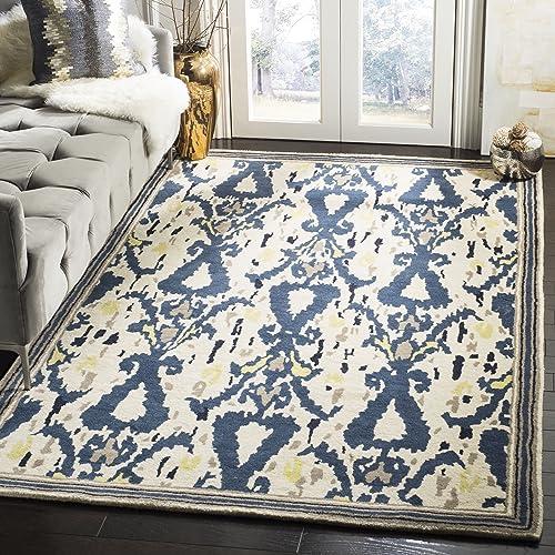 Martha Stewart Safavieh Collection MSR4553B Handmade Premium Wool Clove Area Rug 5 x 8