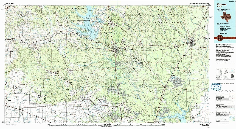 Amazon Com Yellowmaps Conroe Tx Topo Map 1 100000 Scale 30 X