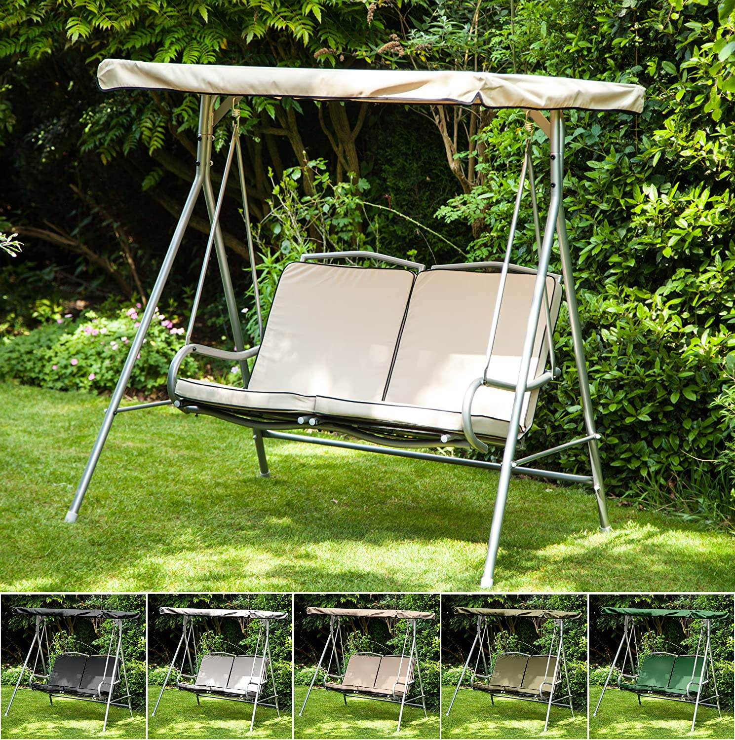 Grey Water Resistant Seat Pad for 2 Seater Argos Malibu Swing Seat *Swing not Included* Gardenista