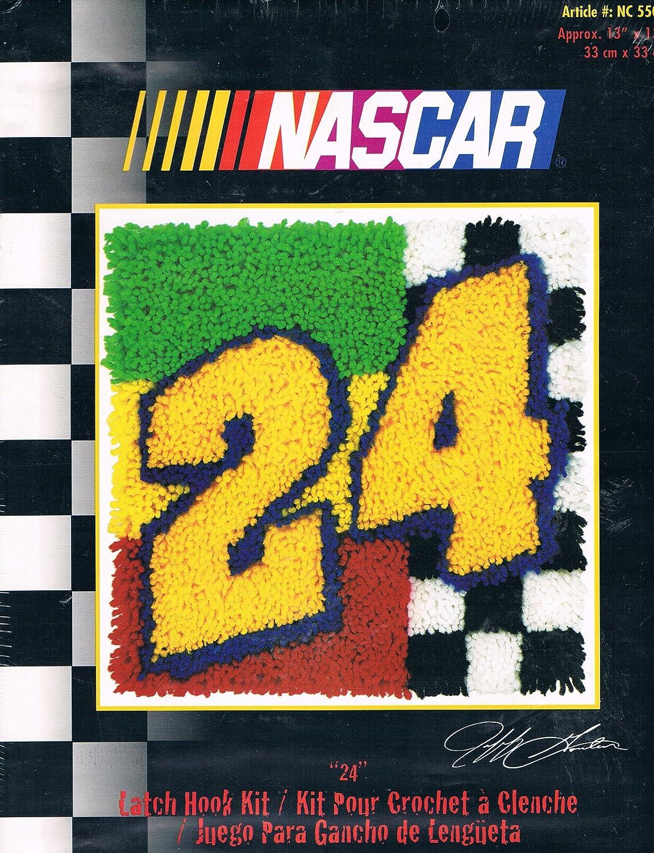 Caron 24 Jeff Gordon 13 x 13 Latch Hook Kit Caron International JEFF GORDENs  NASCAR Number