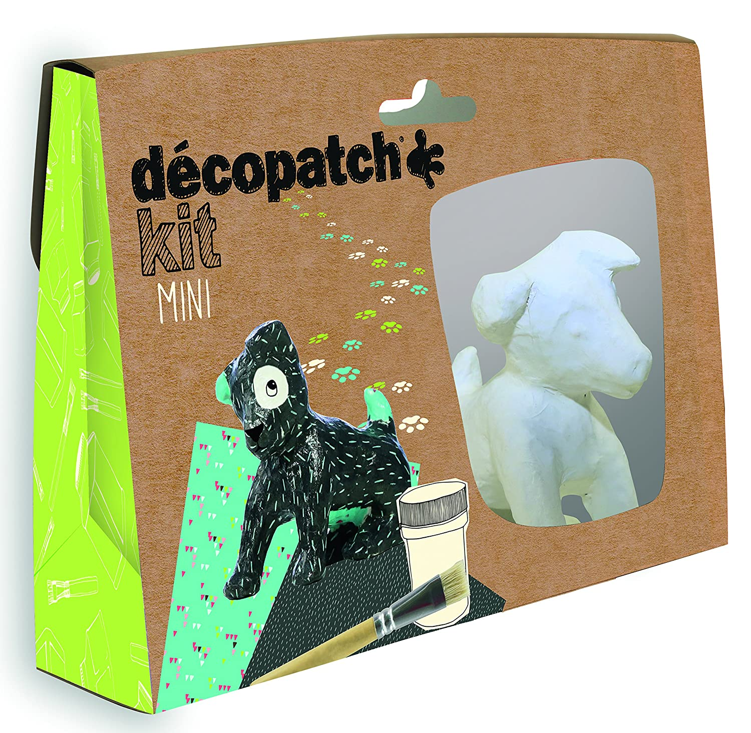 Decopatch, mini kit in cartapesta, modello cane Clairefontaine KIT017O