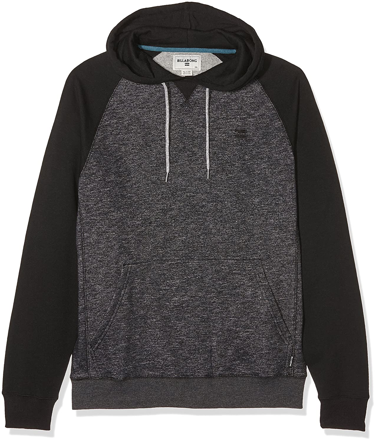 G.S.M. Europe - Billabong Herren Kapuzenpulli Balance Pullover, BLACK HEATHER, Gr.