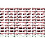 Cap+Cro - Set da 100 barattoli in vetro da 125 ml per marmellate, con coperchio motivo a quadri, Ø 6,6 cm, colore: Rosso/Trasparente